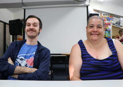 Two CDAH members smiling